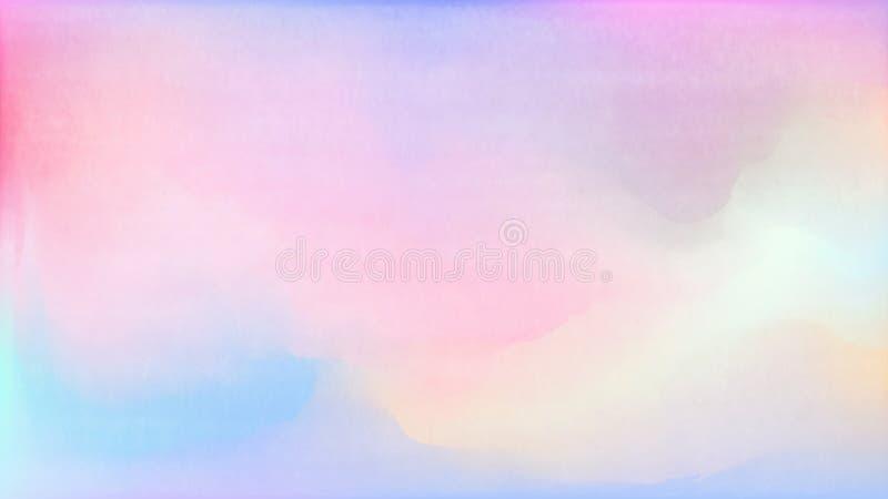 Pastel watercolor backdrop.  Fashion background. Watercolor brush strokes. Creative illustration. Artistic color palette. Vector. Pastel watercolor backdrop stock illustration