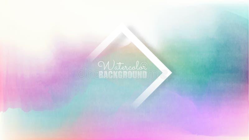 Pastel watercolor backdrop.  Fashion background. Watercolor brush strokes. Creative illustration. Artistic color palette. Vector. Pastel watercolor backdrop royalty free illustration