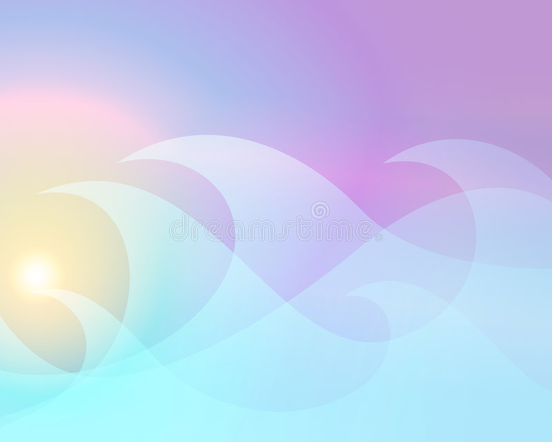 Pastel waves stock illustration