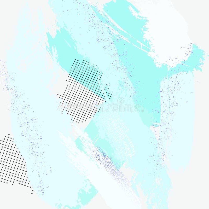 Pastel zieleni muśnięcia uderzeń projekt z fiołkową błyskotliwością Modny Memphis Modny tło robić w wektorze dla tapety, kanwa, ilustracja wektor