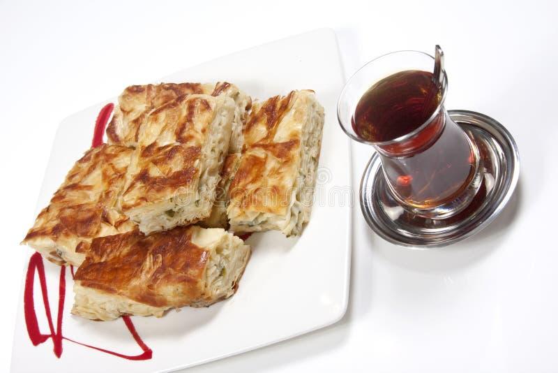 Pastelaria com chá fotos de stock