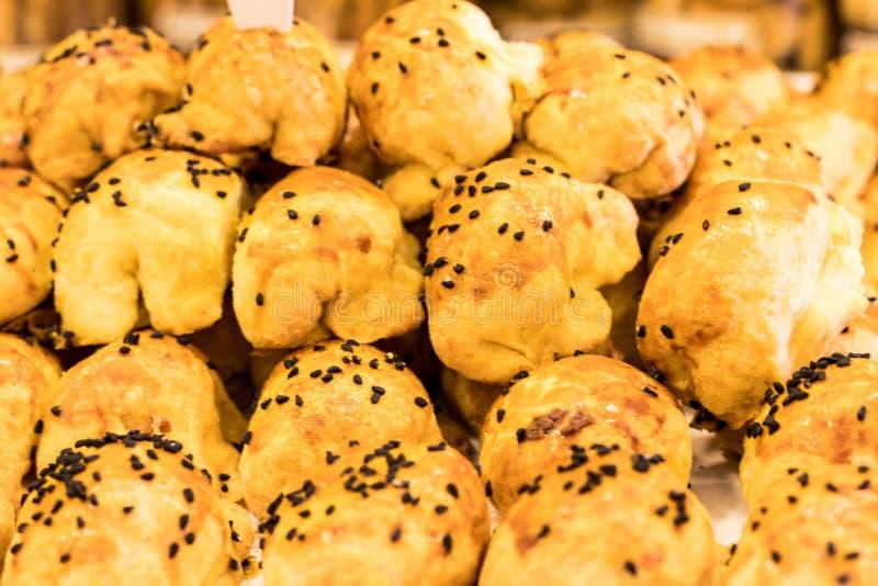 Pastelaria deliciosa com gosto salgado imagens de stock