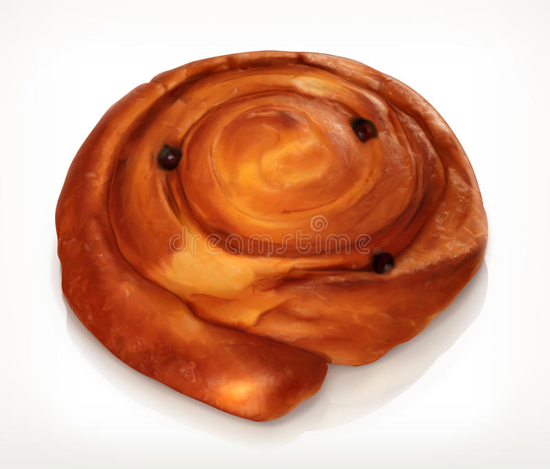 Pastelaria dinamarquesa, ícone da padaria ilustração do vetor