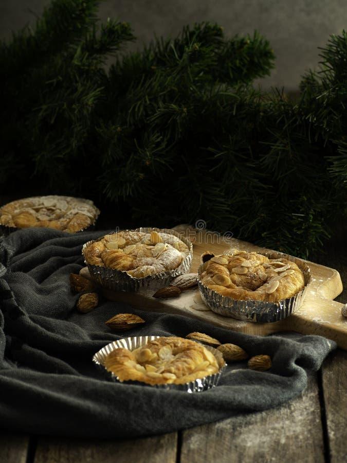 Pastelaria dinamarquesa da amêndoa da sala de estar do pão imagem de stock