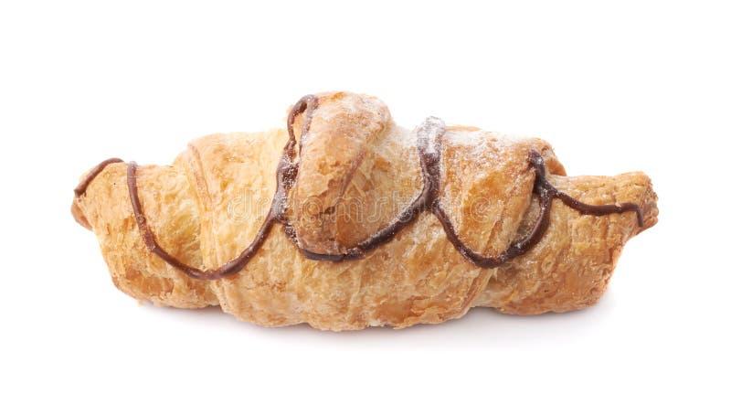 Pastelaria doce do croissant isolada imagem de stock royalty free