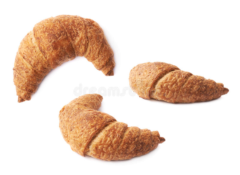 Pastelaria doce do croissant isolada fotografia de stock royalty free