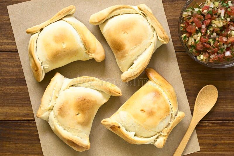 Pastelaria enchida carne de Empanada do chileno imagem de stock royalty free