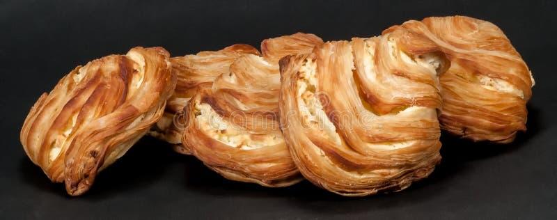 Pastelaria flocoso italiana - Sfogliatelle fotos de stock royalty free