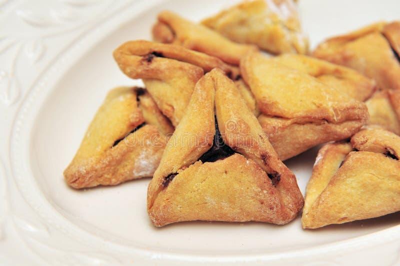 Pastelaria judaica Hamantashen de Purim fotos de stock royalty free