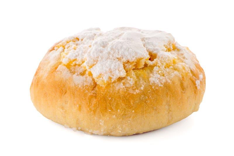 A pastelaria portuguesa tradicional do coco chamou Pao de Deus imagens de stock royalty free
