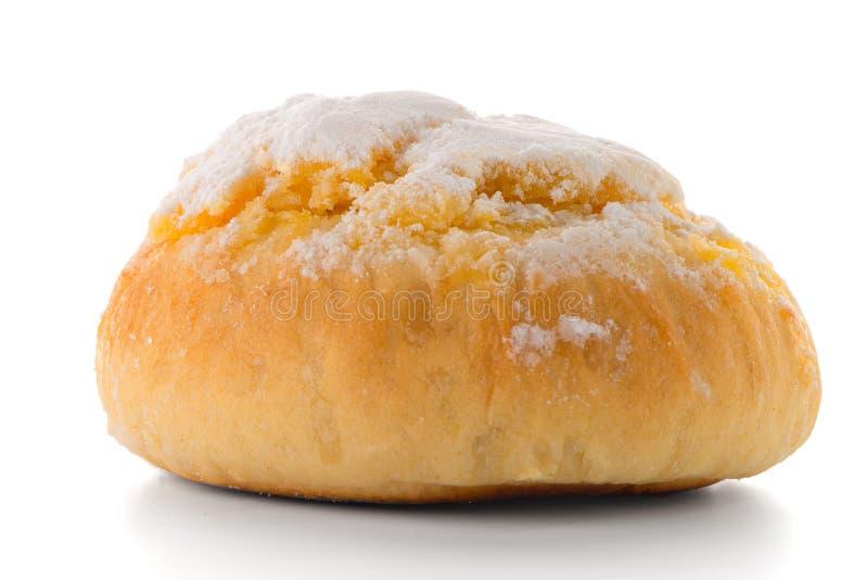 A pastelaria portuguesa tradicional do coco chamou Pao de Deus foto de stock