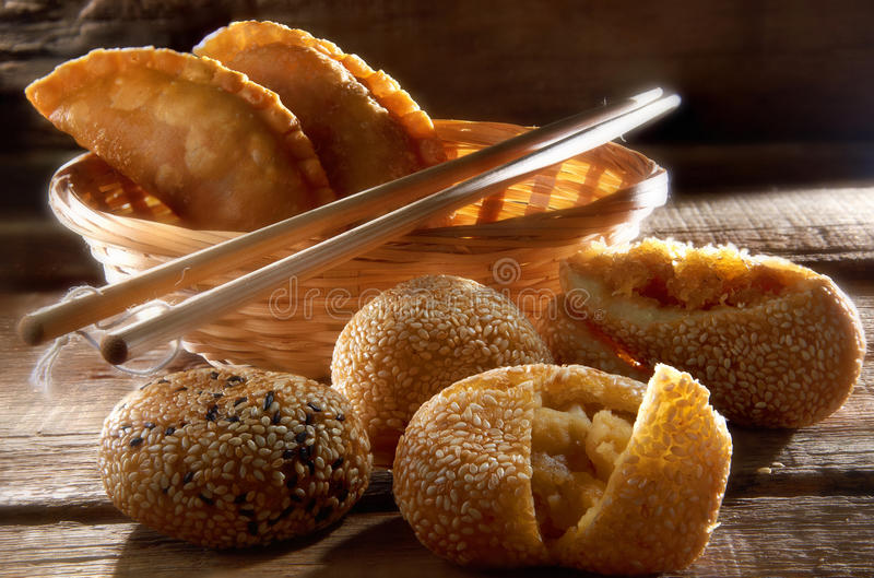 Pastelaria tradicional chinesa foto de stock