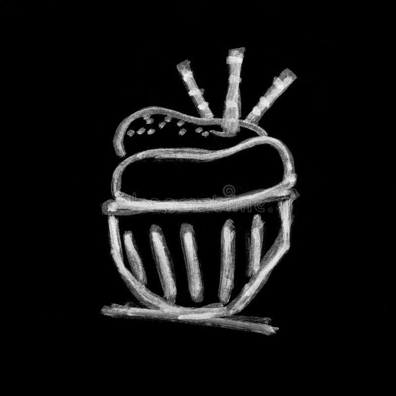 Pastelarias doces no quadro imagens de stock royalty free
