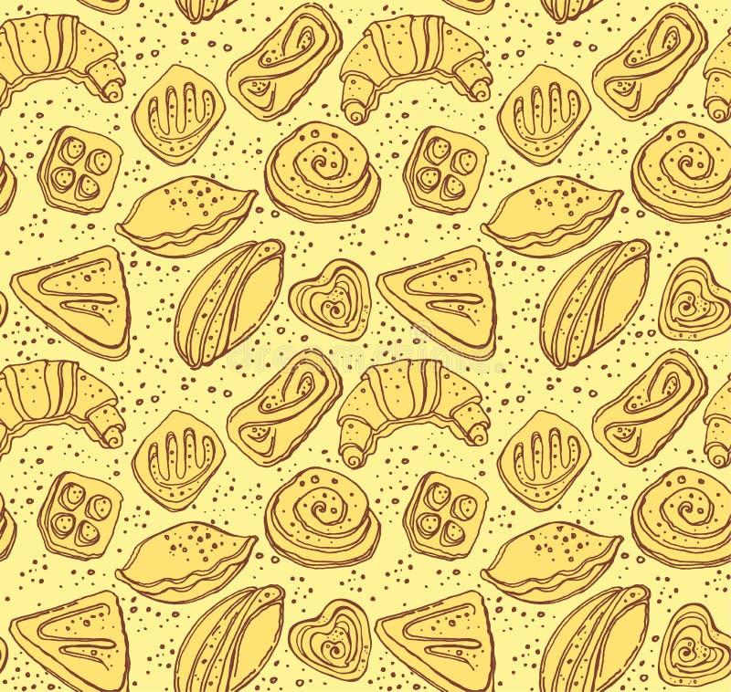Pastelarias saborosos ilustração royalty free