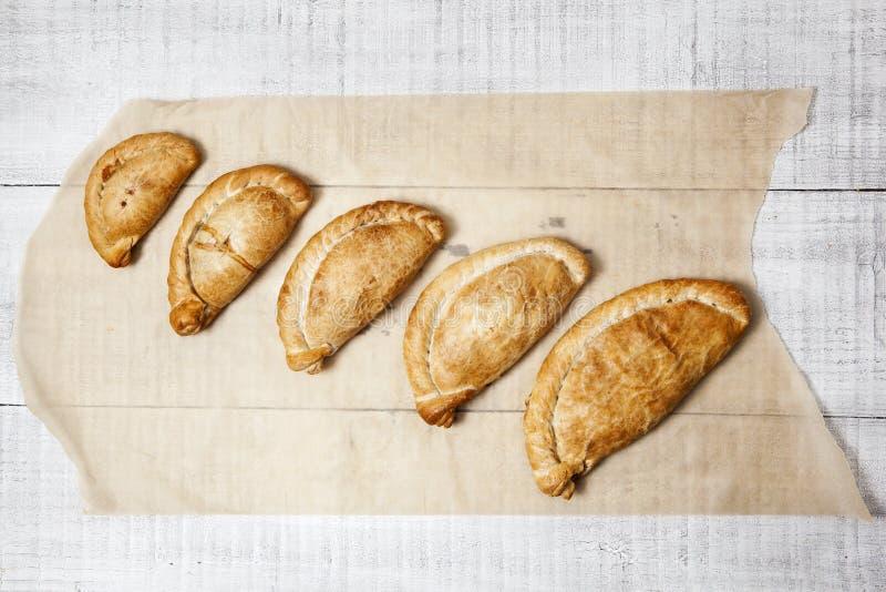 Pasteles de Cornualles tradicionales imágenes de archivo libres de regalías