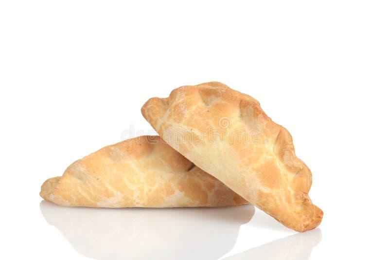 Pasteles de Cornualles tradicionales del primer dos imágenes de archivo libres de regalías