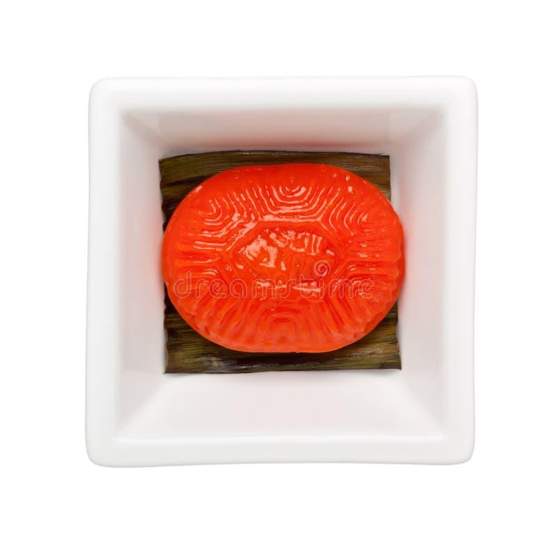 Pasteles del chino tradicional - torta roja de la tortuga imagen de archivo libre de regalías