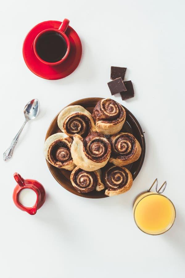 Pasteles del chocolate fotos de archivo