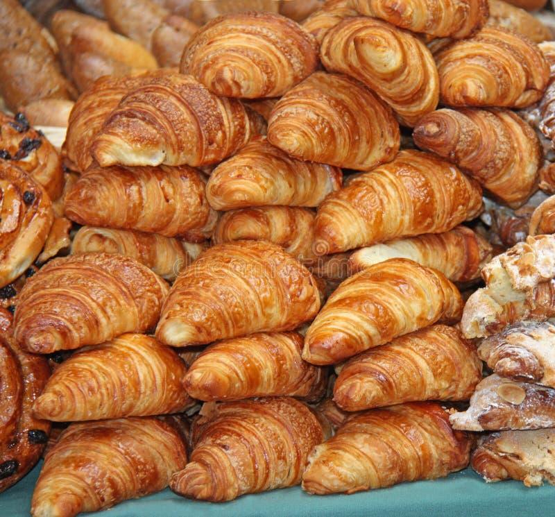 Pasteles del Croissant. foto de archivo libre de regalías