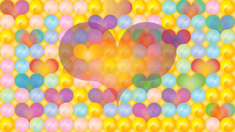 Pasteles dimensionales de los corazones de Yin Yang foto de archivo libre de regalías