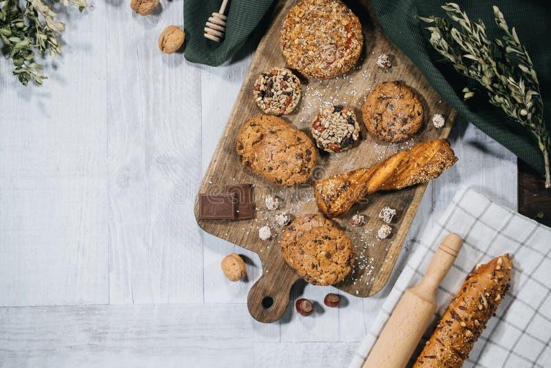 Pasteles dulces hechos en casa frescos foto de archivo libre de regalías