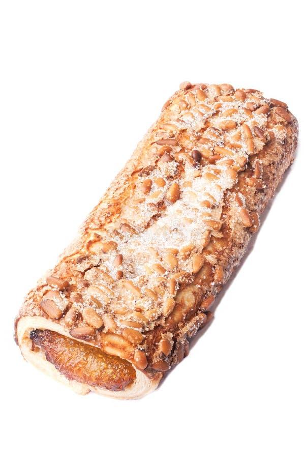 Pasteles dulces, pasta de hojaldre con el azúcar en polvo, con el atasco hecho de la calabaza de Tailandia imágenes de archivo libres de regalías