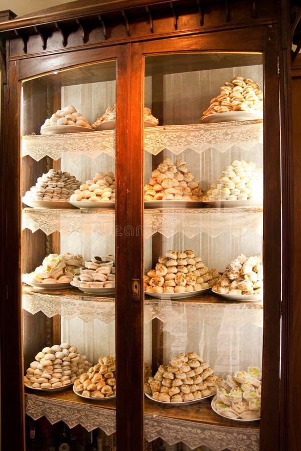 Pasteles italianos del estilo fotografía de archivo