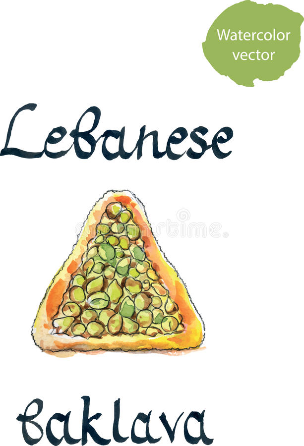 Pasteles libaneses stock de ilustración
