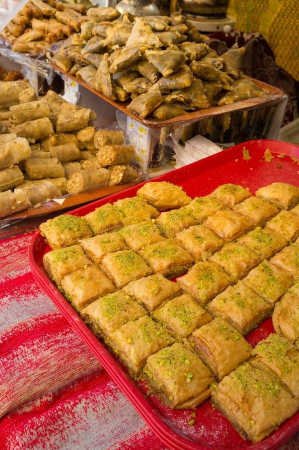 Pasteles marroquíes imagen de archivo