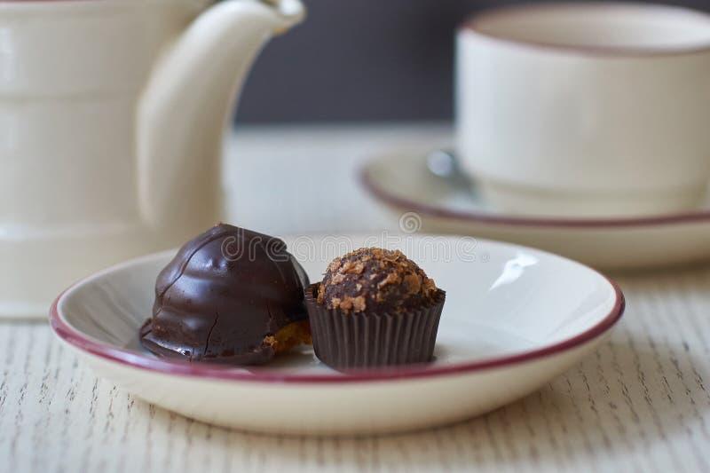 Pastelitos del chocolate imagenes de archivo