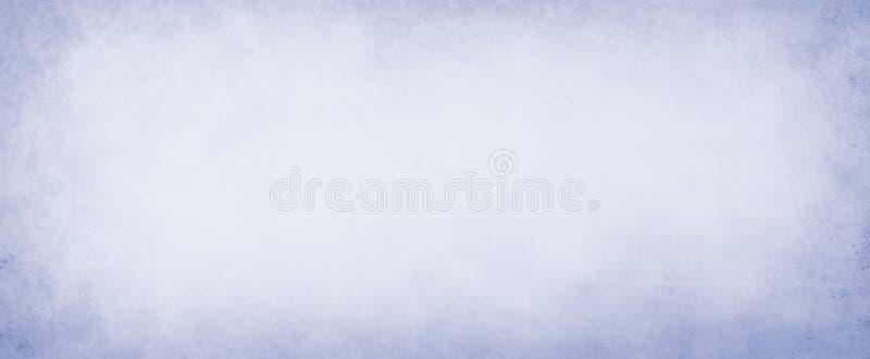 Pastelkleur blauwe document of perkamentillustratie als achtergrond met de donkerblauwe grens van de grungetextuur en licht wit c stock illustratie