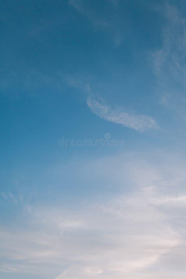 Pastelkleur Blauwe Hemel royalty-vrije stock foto
