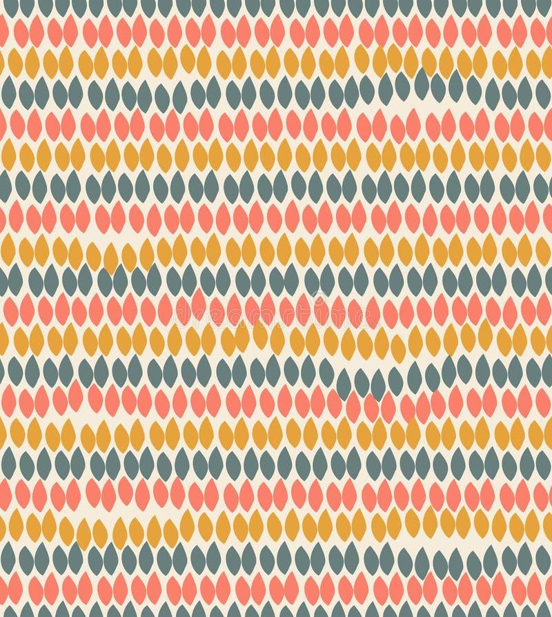 Pastelkleur bloemen decoratief patroon. Decoratieve etnische achtergrond met van bladeren stock illustratie