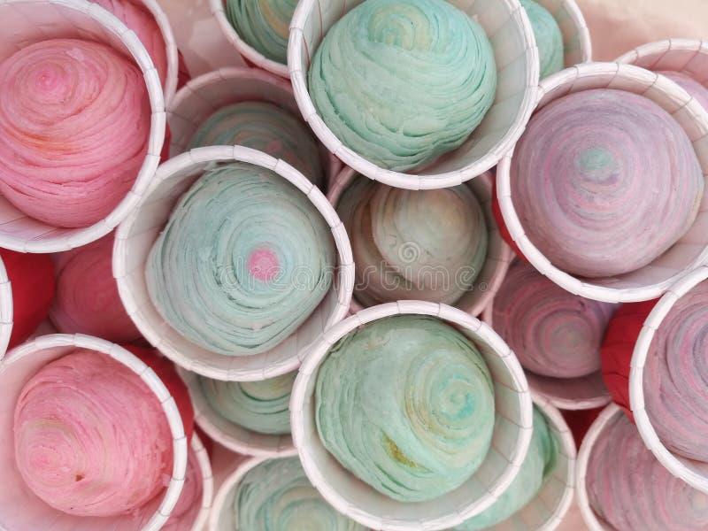 pastelkleur Chinese gebakjes stock afbeeldingen