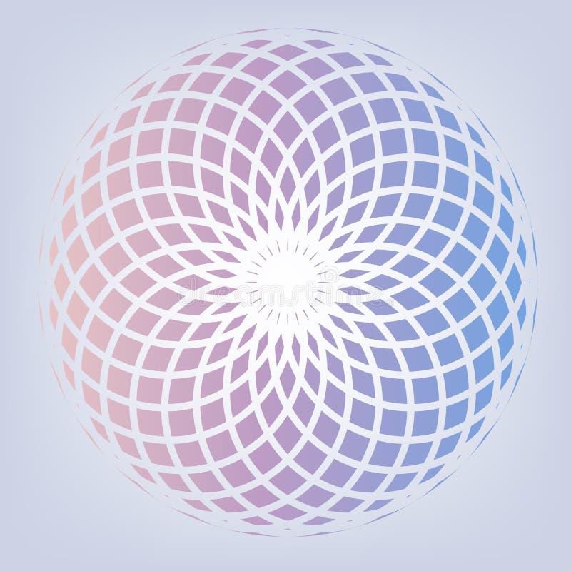 Pastelkleur colous bloem gestalte gegeven achtergrond vector illustratie