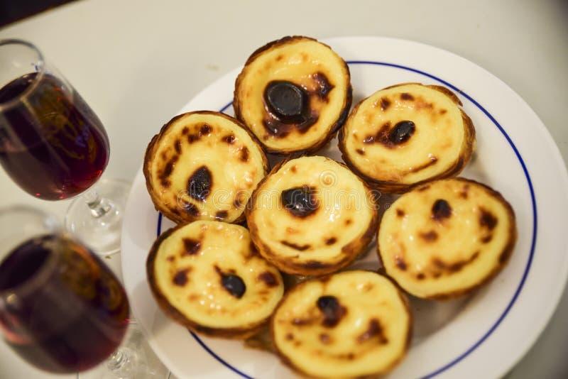 Pastelkleur DE nata, typisch dessert van Lissabon royalty-vrije stock fotografie