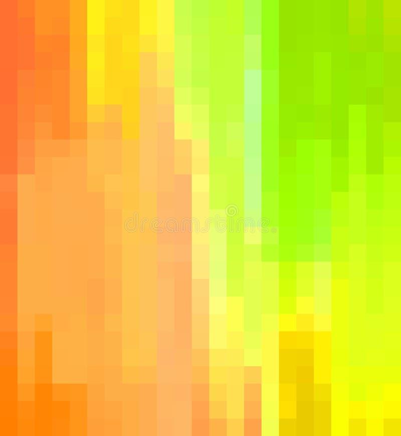 Pastelkleur gekleurde blokkerende achtergrond in roze en oranje kleurenschaduwen stock illustratie
