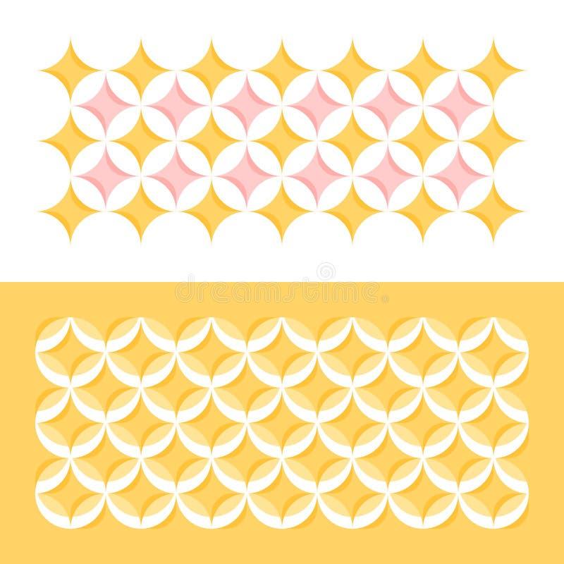 Pastelkleur geometrisch patroon met cirkels en sterren royalty-vrije illustratie