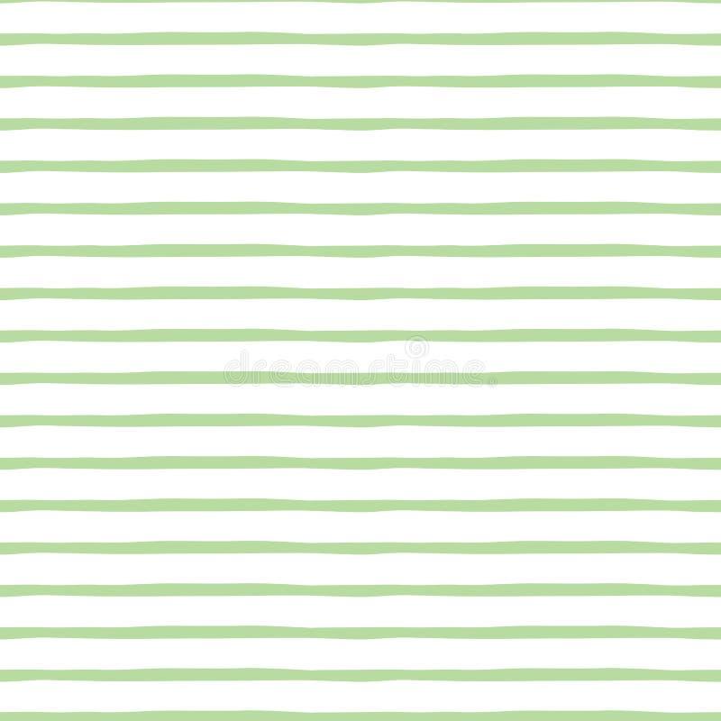 Pastelkleur groene leuke gestreepte structuur Vector abstracte achtergrond Naadloos patroon vector illustratie
