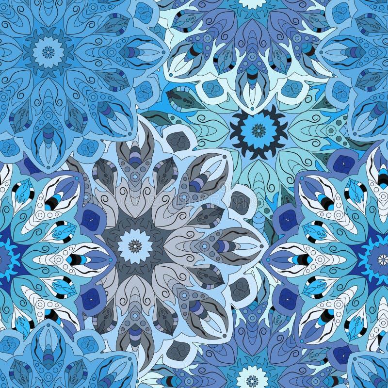 Pastelkleur naadloos patroon in uitstekende stijl royalty-vrije illustratie