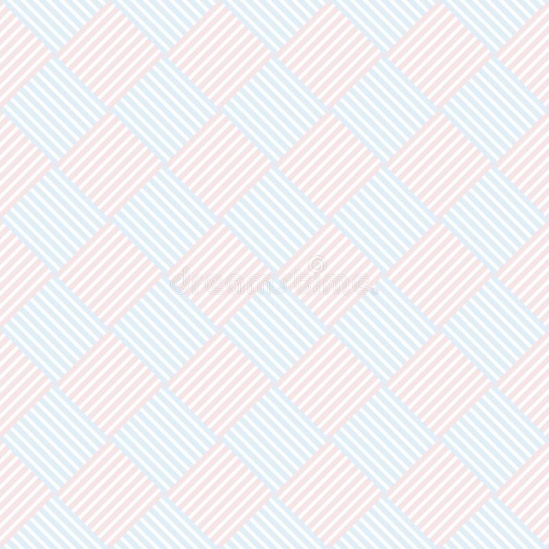 Pastelkleur retro verschillend vector naadloos patroon vector illustratie