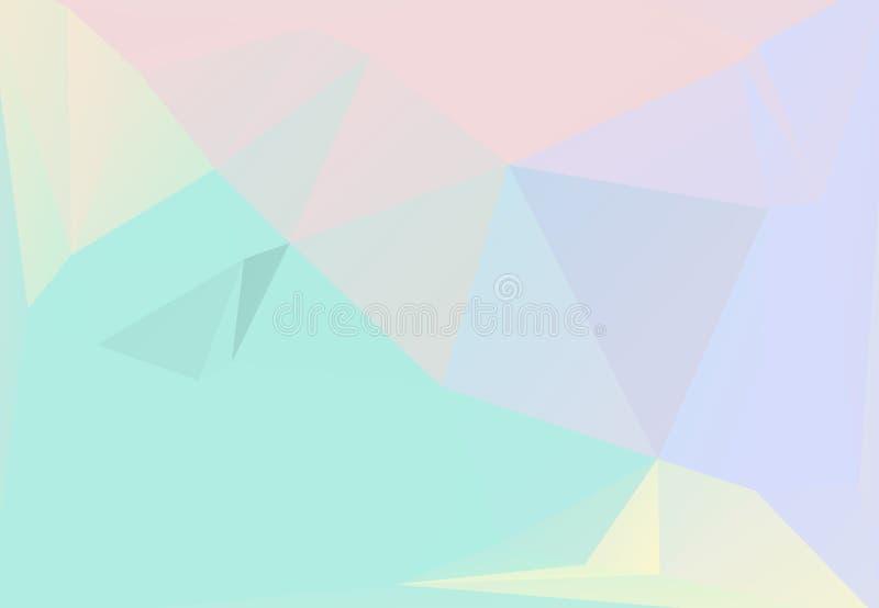 Pastelkleuren die van de esthetica van de jaren '80jaren '90 worden geïnspireerd Holografisch laag polyontwerp vector illustratie
