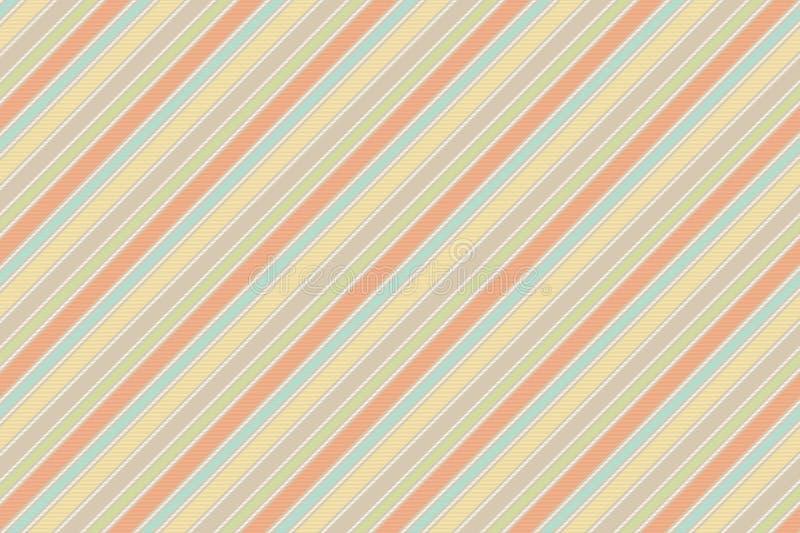 Pastell behandla som ett barn gjord randig sömlös bakgrund för färg gyckel stock illustrationer