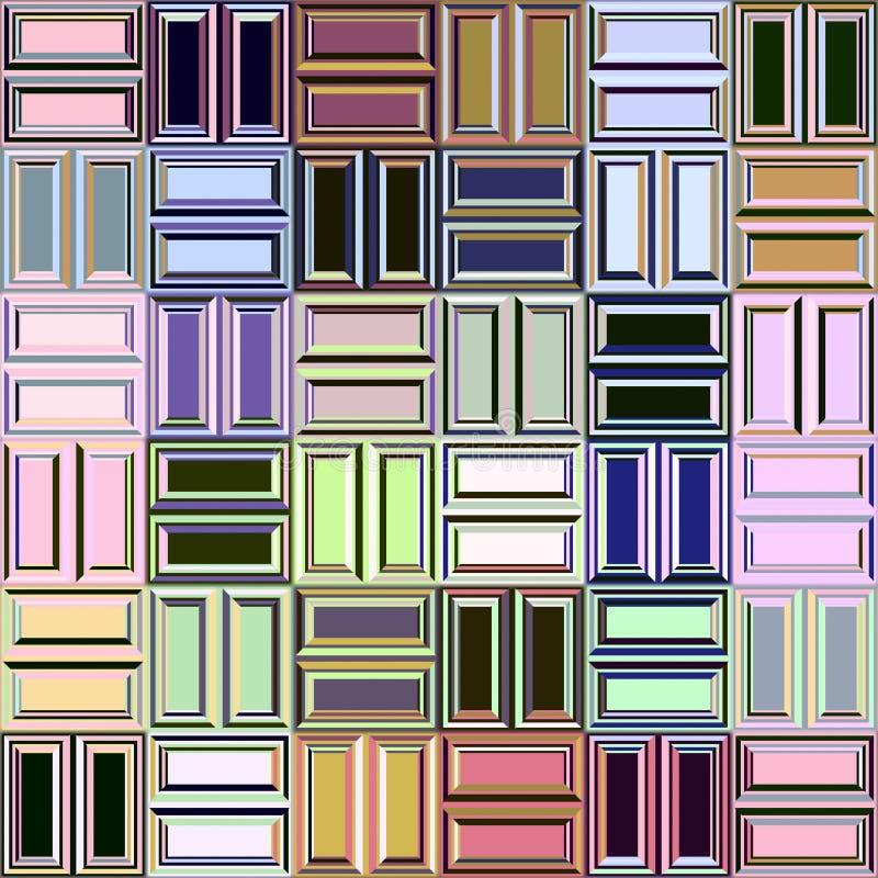 Pastell blockt Muster lizenzfreie abbildung