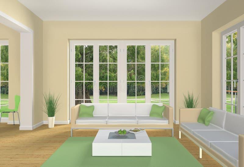 Pastell coloreó la sala de estar ilustración del vector