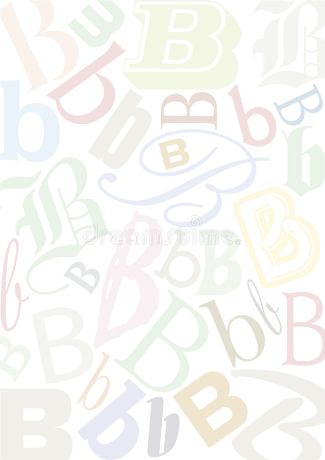 Download Pastell colored letter B stock vector. Illustration of wallpaper - 8643396
