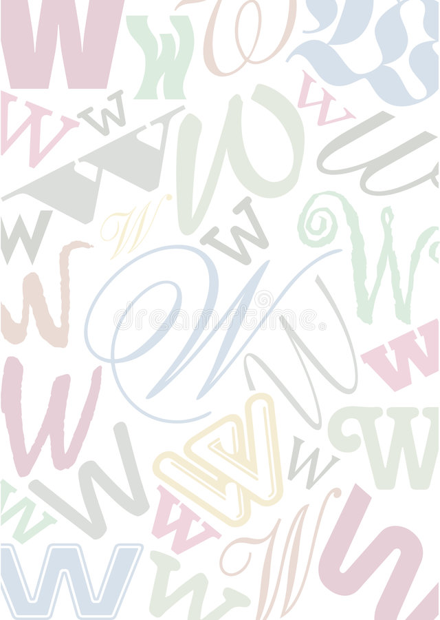 Download Pastell Colored Letter W Stock Photo - Image: 8643550