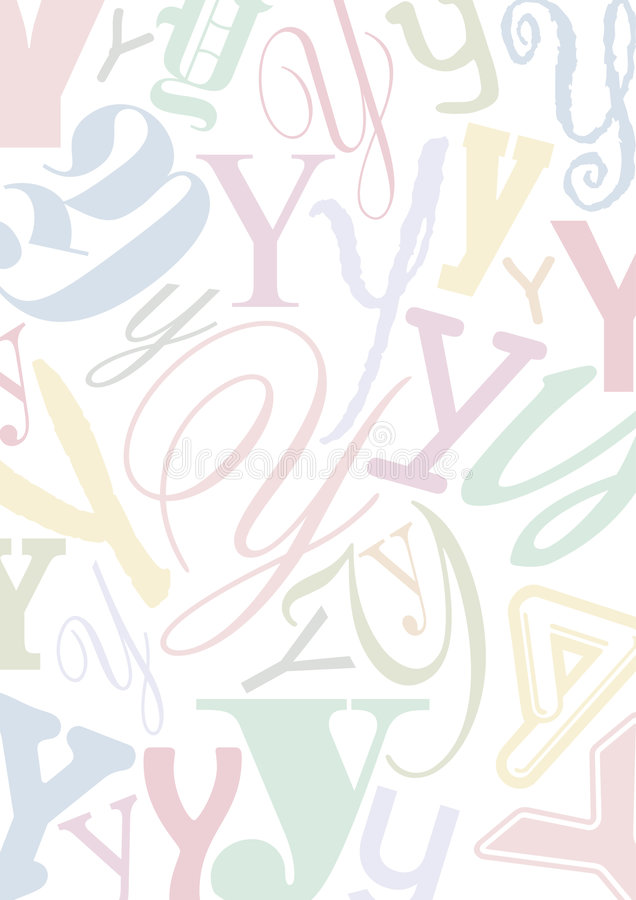 Pastell colored letter Y royalty free illustration