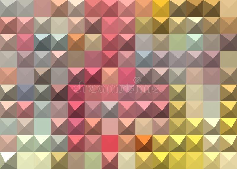 Pastell färgad abstrakt geometrisk bakgrund arkivbilder