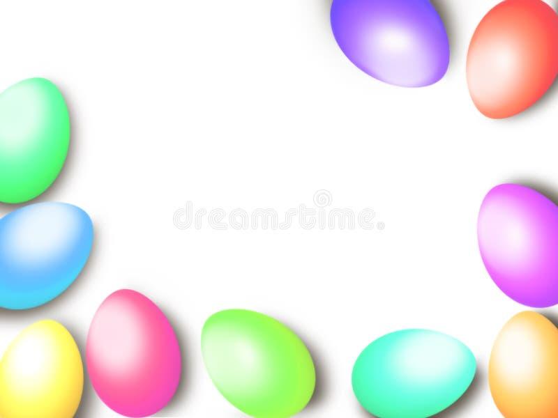 Pastell- Farbe-Ostereier fassen Rahmenhintergrundschablone ein lizenzfreie abbildung